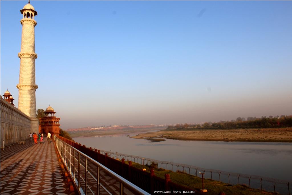 Yamuna River Vew from Taj Mahal, goindiayatra blog