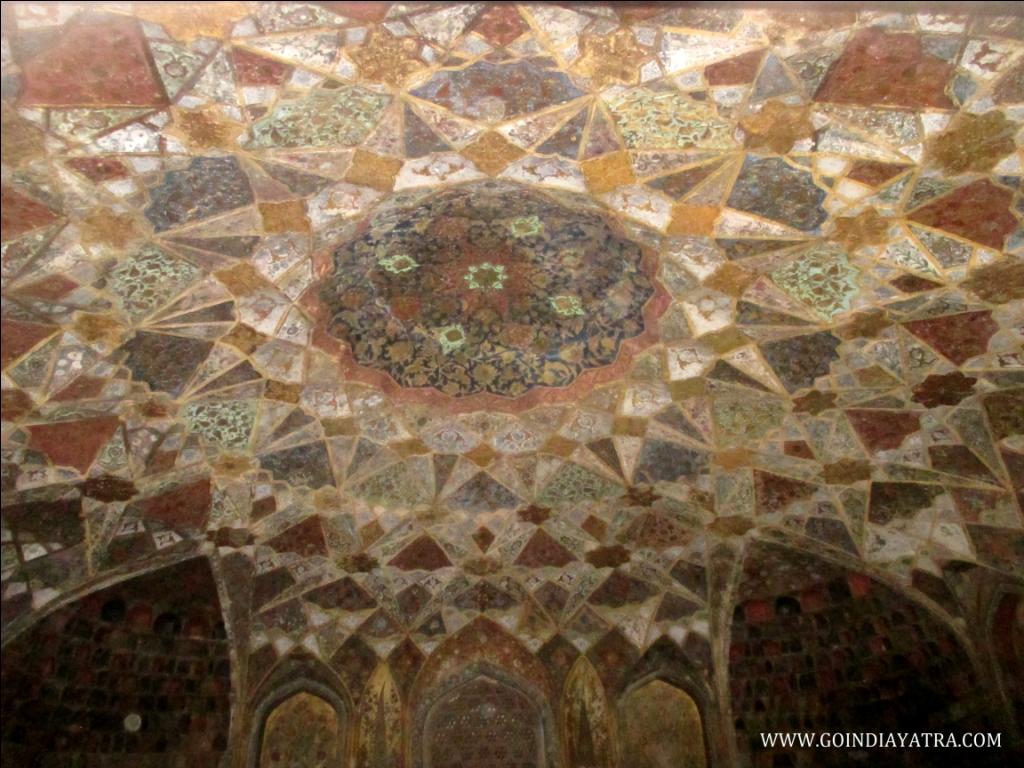 cieling of itimad-ud-daulah Tomb, goindiayatra blog