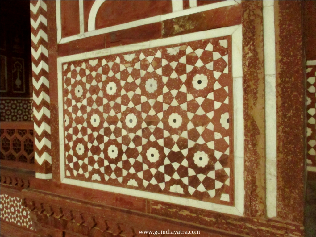 White marble work inside baby taj tomb, goindiayatra blog