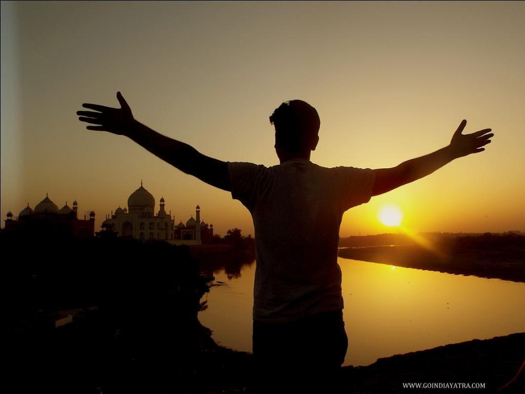 taj mahal sunset point, goindiayatra
